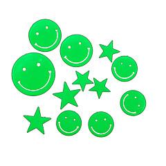 로맨틱 집 흡광 야간 조명 스티커 - 웃는 얼굴과 별