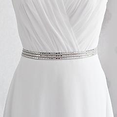 Satin Wedding / Party/ Evening / Dailywear Sash - Sequins / Beading Women's Sashes