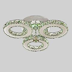 Umei ™ führte Kristall Deckeneinbau, 3 Lampen, moderne transparente Galvanik Edelstahl