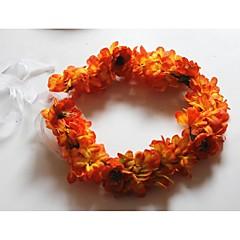 Mulheres Tecido Capacete-Casamento Grinaldas 1 Peça Roxo / Laranja / Rosa / Amarelo Flôr 54cm
