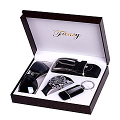 Set of 4 Groom groomsman Gift Box with Watch Keychain Sunglass Belt for Business Party Gift
