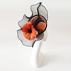 Kentucky Derby Church Races Black And Orange Wedding Event Fascinator