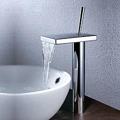 Zeitgenössisch Becken Wasserfall with  Keramisches Ventil Einhand Ein Loch for  Chrom , Waschbecken Wasserhahn