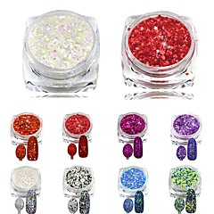 8pcs, one set Nail Art Decoration Rhinestone Perler Makeup Cosmetic Nail Art Design