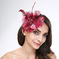 Women's Feather / Tulle / Acrylic Headpiece-Wedding / Special Occasion Flowers 1 Piece
