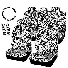 autoyouth kurze Plüsch weißen Zebra universal passend für die meisten Autositze Lenkradabdeckung Schulterpolster Sitz Autoabdeckungen