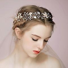 Vrouwen Bergkristal Licht Metaal Helm-Bruiloft Speciale gelegenheden Informeel BuitenHoofdbanden Haarkammen Bloemen Haarstokje