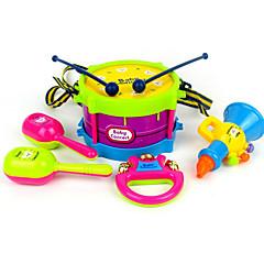 tambor chifre sino de mão abs vermelho / azul / amarelo / brinquedo roxo música