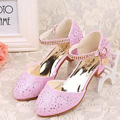 Saltos-Conforto Light Up Shoes-Salto Grosso-Azul Rosa Prateado-Gliter-Casual