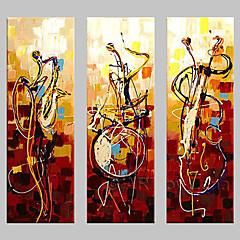 kézzel festett fal művészet Abstrac lakberendezés play eszközök olaj, vászon 3db / szett keret nélkül