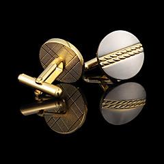 Manschettenknöpfe 1 Paar,einfarbig Goldfarben Modisch / Geschenkboxen & Taschen Manschettenknopf Herren Schmuck