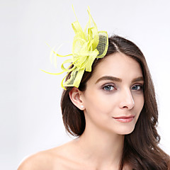 Women's Feather / Flax Headpiece-Wedding / Special Occasion / Casual Fascinators 1 Piece