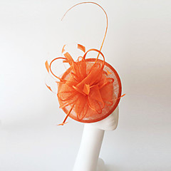 Kentucky Derby Church Races Orange Flax Wedding Event Fascinator