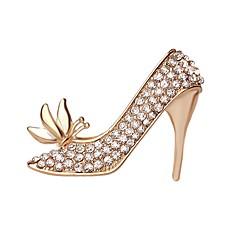 女性のための熱い販売の輝くクリスタルの蝶ハイヒールの靴のブローチ