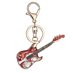 Europe And The United States New Realistic Guitar Key Chain Key Chain Bag Car Key Pendant Valentine's Day Birthday Gift Factory Direct Sales