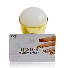 1pcs nye silikon nail art stamper jumbo squishy gelé DIY polsk stamper skraper sett sjablonger manikyr verktøy y_nd215