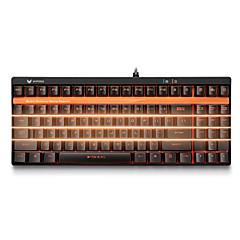 פיר שחור תאורה האחורי של מקלדת משחקים מכנה מקלדת rapoo v500s 92keys לתכנות שום קונפליקט