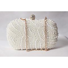 Women Satin Formal / Event/Party / Wedding Evening Bag/Pearl Clutch/Pearl Diamonds Delicate Handbag
