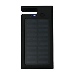 12000mAhBank-externer Batterie Solarlade / Multi – Ausgabe / Taschenlampe / Inklusive Ständer 12000 Output 1:5V 1000mA Output 2:5V 1000mA