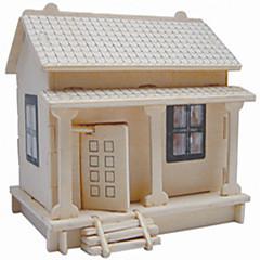 Quebra-cabeças Quebra-Cabeças de Madeira Blocos de construção DIY Brinquedos casa 1 Madeira Ivory