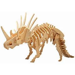 jigsaw zagonetke Drvene puzzle Građevni blokovi DIY igračke Dinosaur 1 Drvo Kristalne Igračka model i građenje