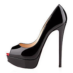 נעלי נשים - בלרינה\עקבים - דמוי עור - עקבים - שחור / ירוק / אדום / לבן / נייטרלי - חתונה / משרד ועבודה / שמלה / קז'ואל / מסיבה וערב -עקב