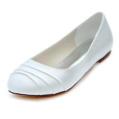 Others-Lapos-Női cipő-Lapos-Esküvői / Ruha / Party és Estélyi-Streccs szatén-Elefántcsont