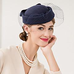 Women's Wool Net Headpiece-Wedding Special Occasion Casual Fascinators Hats 1 Piece