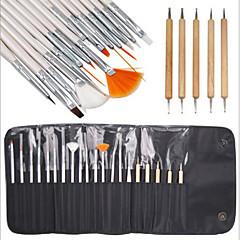 15ks nail art designu malba kresba perem štětec nastavit 5ks tečkování marbleizing nástroje pero