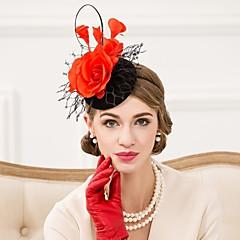 Mulheres Penas Lã Rede Capacete-Casamento Ocasião Especial Casual Fascinador Chapéus 1 Peça