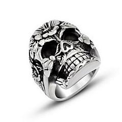 Miesten Sormus Personoitu Titaaniteräs Skull shape Korut Käyttötarkoitus Halloween Päivittäin Kausaliteetti
