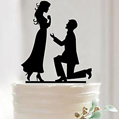 Decorações de Bolo Não-personalizado Acrilíco Casamento / Aniversário / Despedida de Solteira PretoTema Jardim / Tema Asiático / Tema