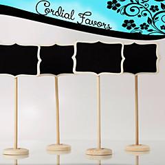 Dřevo kartičky s číslem stolu - 1 Piece / Set