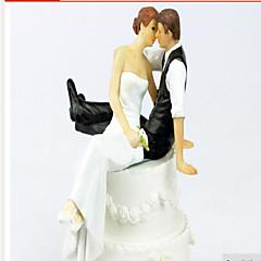 Figurky na svatební dort Nepřizpůsobeno Pryskyřice Bílá / Černá 1 Dárková krabička