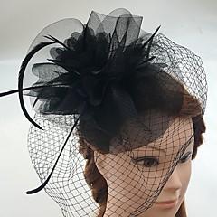 Ženy Peří Tyl Síť Přílba-Svatba Zvláštní příležitost Neformální Ozdoby do vlasů francouzský závoj Jeden díl