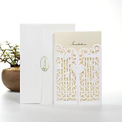 Personalizado Dupla Dobra-Portão Convites de casamento Cartões de convite-50 Peça/Conjunto Papel Pérola