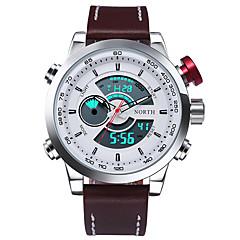 North Men's Multifunction Sport Watch 30M Waterproof LED Calendar Digital Male Wrist watch Military Fashion Casual Quartz Black Light Watch