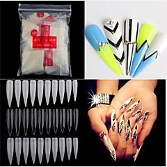 500pcs nues blanches art conseils faux ongles en acrylique uv salon outils nail art français