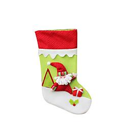 크리스마스 장난감 선물 백 홀리데이 용품 3Pcs 크리스마스 텍스타일 실버 아이보리 화이트