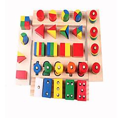ストレス解消 ブロックおもちゃ 知育玩具 ギフトのため ブロックおもちゃ 趣味&レジャーグッズ 四角形 円筒形 ウッド 2~4歳 虹色 おもちゃ