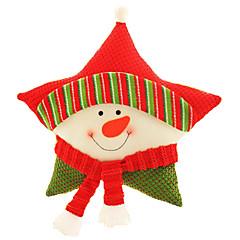 Božićne igračke Blagdanske potrpštine 3Pcs Božić Tekstil Bijela Srebrna Obala