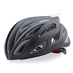 女性用 男性用 男女兼用 バイク ヘルメット 21 通気孔 サイクリング サイクリング マウンテンサイクリング ロードバイク レクリエーションサイクリング XL: 63-67 cm ワンサイズ PC 炭素繊維 + EPS EPS+EPUレザーホワイト レッド ブラック