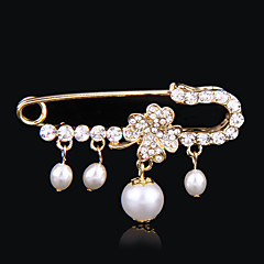 свадебный стиль элегантный серебро никелированная горный хрусталь брошь