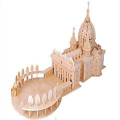 직소 퍼즐 나무 퍼즐 빌딩 블록 DIY 장난감 구 파이터 유명한 빌딩 교회 1 나무 크리스탈 모델 & 조립 장난감