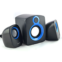 Boekenplank computer speaker 2.1 Draagbaar LED-licht Stereo surround sound Super Bass