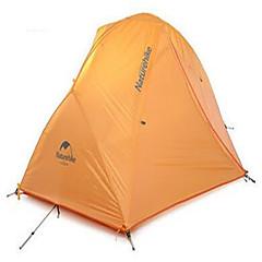 NatureHike® 2 Pessoas Tenda Abrigo e Lona Encerada Duplo Um Quarto Barraca de acampamento Fibra de VidroProva de Água Respirabilidade
