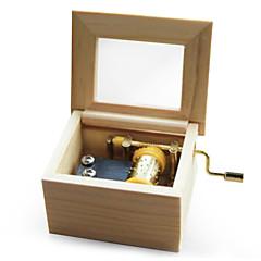 Music Box ריבוע מצחיק עץ מתכת בנים בנות