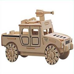 פאזלים פאזלים מעץ אבני בניין צעצועי DIY לוחם 1 עץ קריסטל צעצוע בניה ודגם