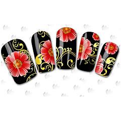 100 Neglekunst klistremerke Vann Overføre Dekor 3D Negle Klistremerker Tegneserie Blomst Smuk Sminke Kosmetikk Neglekunst Design