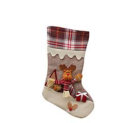 크리스마스 장난감 선물 백 홀리데이 용품 3Pcs 크리스마스 텍스타일 아이보리 화이트 골드